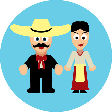 latinos: Traditional costumes of Mexiacans and Latinos