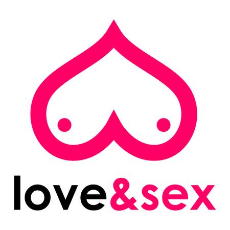 sex shop: Sex shop - breast Illustration
