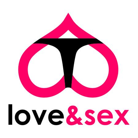sex shop: Sex shop - butt Illustration