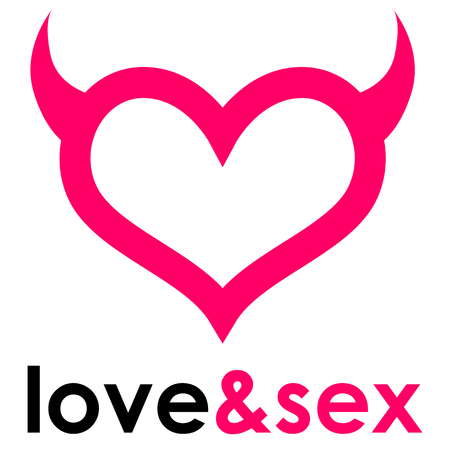 sex shop: Sex shop heart Illustration