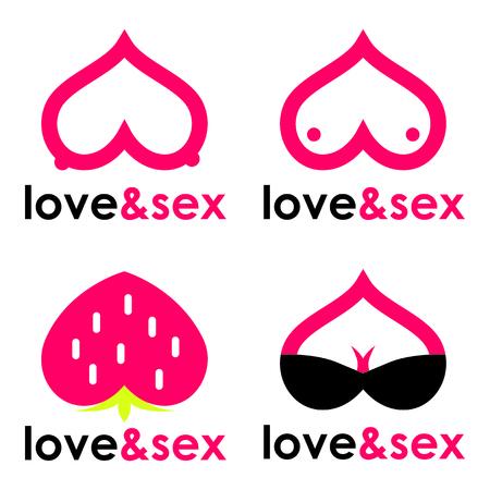sex shop: Sex shop hearts collection