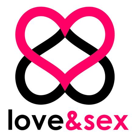 Sex shop heart Иллюстрация