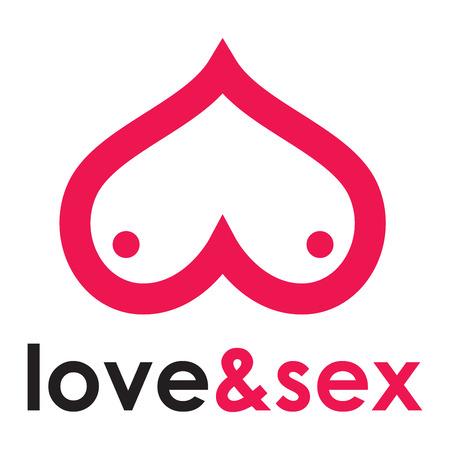 Sex shop - breast Иллюстрация