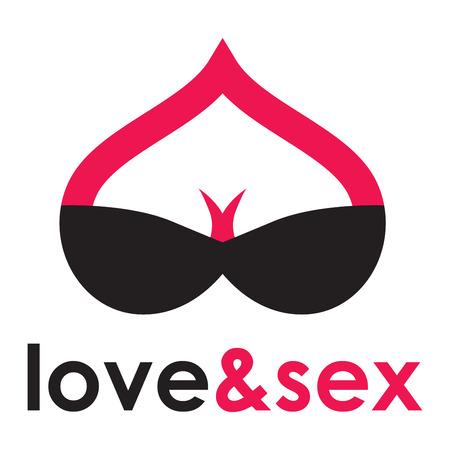 Sex shop - breast 向量圖像