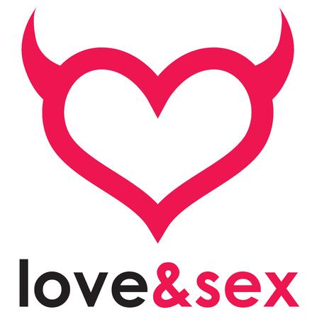 Sex shop heart Фото со стока - 58480226