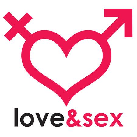 Sex shop heart 向量圖像
