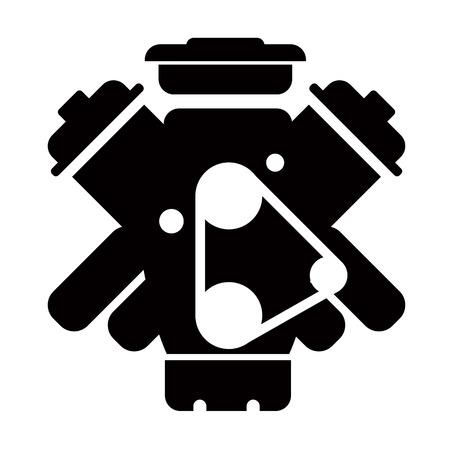 자동차 서비스 - 엔진 수리 아이콘 일러스트
