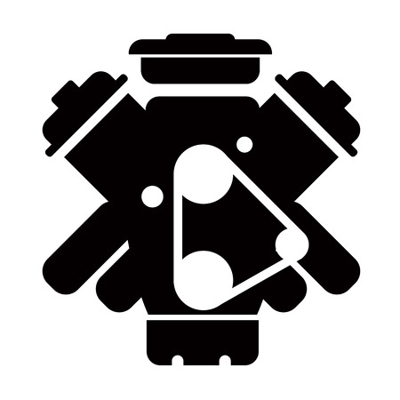 Car service - engine repair icon Illustration