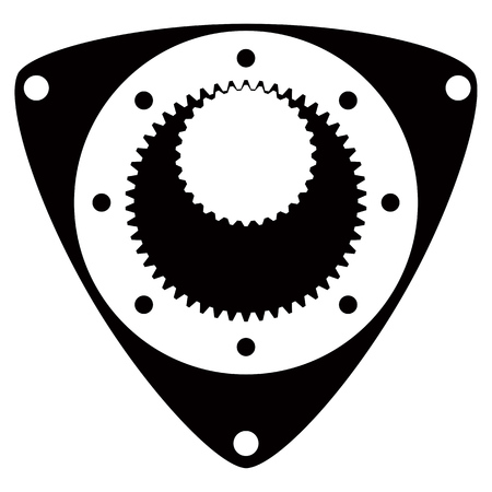 Car service - rotary engine repair icon