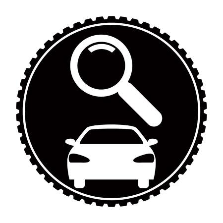 diagnostics: Car service - diagnostics icon Illustration