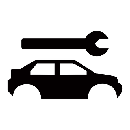 auto service: Car service - broken auto repair icon Illustration
