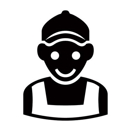 Service - worker, builder man icon