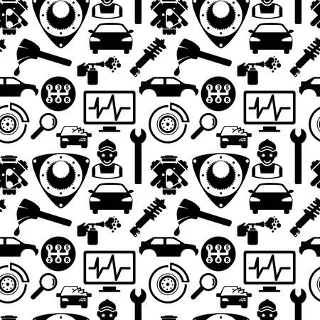 Car service seamless pattern Иллюстрация