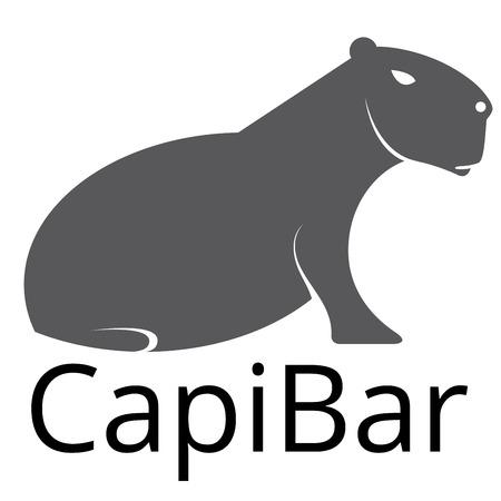 Capybara sign bar vector Иллюстрация