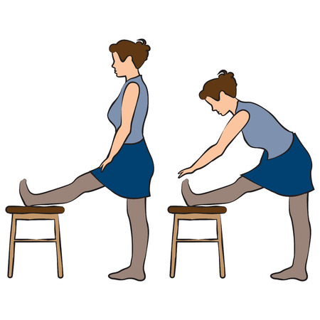 Office excercises pose standing