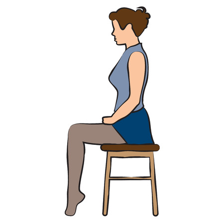 Office excercises pose sitting