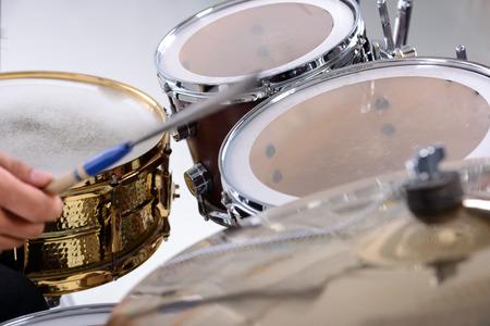 Drum kit isolated on white background. studio shot photo