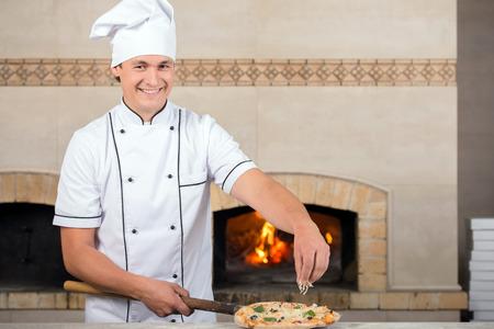 Pizza Chef Uniform Chef Baker in White Uniform is