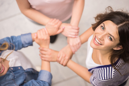 therapy group: Addicted people having good time together on special group therapy.