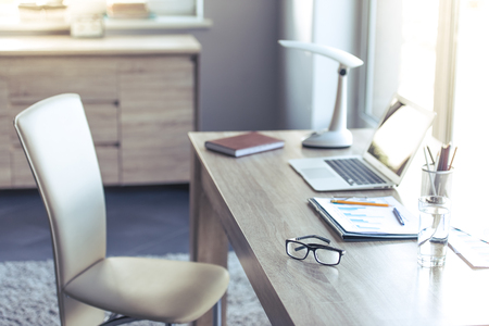 Comfortable and light place for people working at home