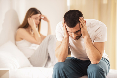 Unhappy Young Couple has Problems in Relationships. Conflict in Family Concept. Tired from Long Relationship. Difficulties in Love. Family Life concept. Relationship between People.