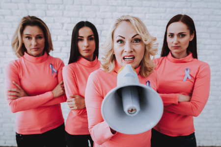 People Support with Cancer. Pink Blouse and Makeup with Friends. Caucasion People Help Disease People with Cancer. Lady Help People. Support Lifestyle. Female Support People with Bold. Woman and Girl.
