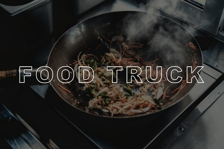 Chinese Noodles Wok Cooking. Food Truck Concept. Prepare For Dinner. Tasty And Delicious. Lunch Nutrition. Sandwich Making. Fried Ingredients. Fast Food Cooking. Spicy Meal. High Temperature.