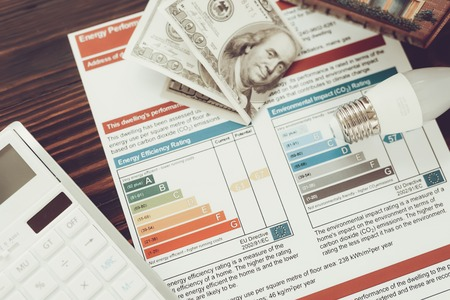 Banknotes On The Energy Efficiency Certificate. Money Value. Paying For The Lightbulbs. Nature Resources Saving Project. Innovation Technology. Effective Diagrams. Futuristic Idea. Imagens