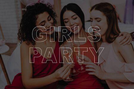 Girls in Dress. Celebrating Women's Day. March 8. Smiling Girls. Surprised Women. Happy Women. Happy Emotions. Women Spend Good Time.