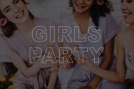 Celebrating Womens Day. Smiling Girls. Happy Women. Women Spend Good Time. Beautiful Women. Champagne Glasses. Girls Party.