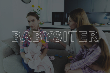 Mother Scolds a Babysitter and Gesticulating. Sad Nanny Listens a Strong Mother.