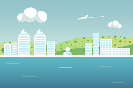 vue ville: City View Illustration
