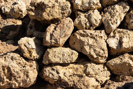 Old and weathered large stone blocks wall texture Zdjęcie Seryjne
