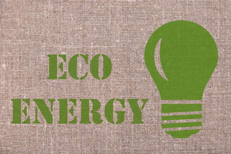 EKO energy. Lettering concept made on linen
