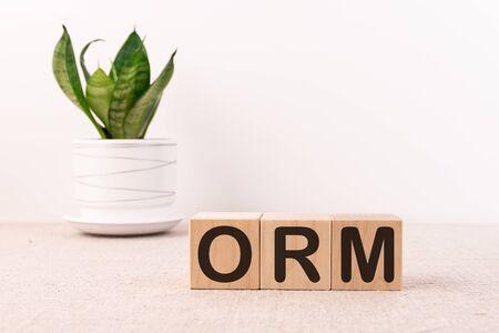 ORM Online Reputation Management concept on cubes