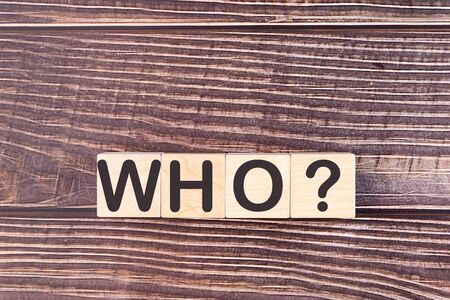 WHO word made with wood building blocks