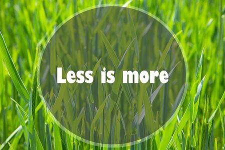 Less Is More. Quote. Best Inspirational and motivational quotes and sayings about life, wisdom, positive, Uplifting success, Motivation
