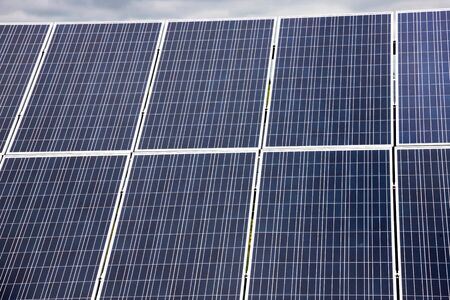 solar panel, solar energy, green economy and ecology. Stockfoto