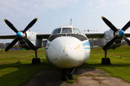 Minsk, Belarus - September 20, 2020: old Soviet passenger, civil aircraft. Archivio Fotografico - 156498540