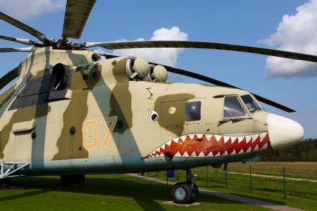 Minsk, Belarus - September 20, 2020: Soviet military cargo helicopter Mi-26. Archivio Fotografico - 156498542
