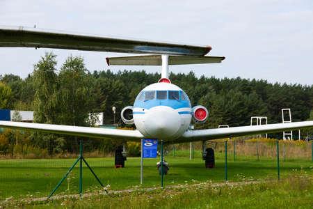 Minsk, Belarus - September 20, 2020: old Soviet passenger, civil aircraft. Archivio Fotografico - 156498527