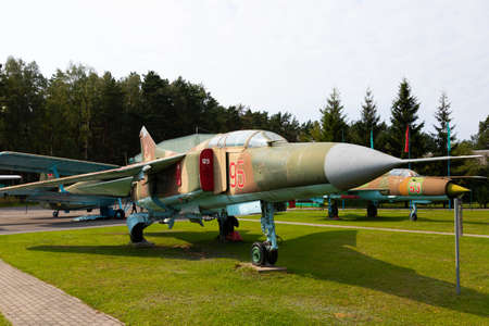 Minsk, Belarus - September 20, 2020: old, decommissioned Soviet military aircraft Archivio Fotografico - 156498528