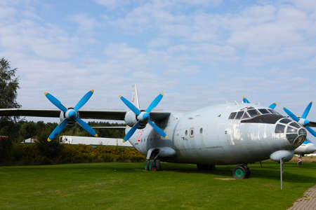 Minsk, Belarus - September 20, 2020: Old propeller-driven cargo plane in the open-air museum. Archivio Fotografico - 156499695