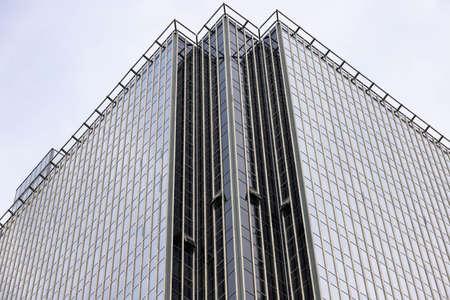 Minsk, Belarus - September 20, 2020: Facade of a modern office building, skyscraper. Archivio Fotografico - 156499711
