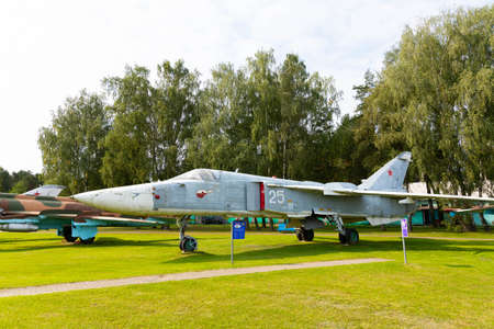 Minsk, Belarus - September 20, 2020: old, decommissioned Soviet military aircraft