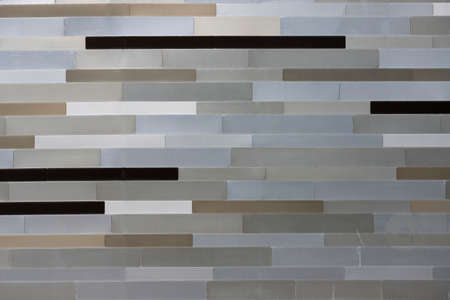 Multicolored striped building wall pattern. Construction design.