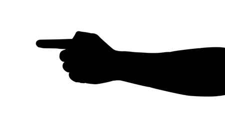 hand silhouette Stock Vector - 10587034