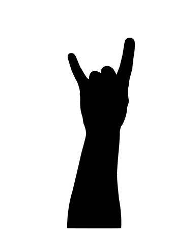 hand silhouette Stock Vector - 10587041