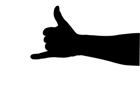 finger ring: hand silhouette