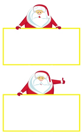 nameplate: Smiling Santa with copy space showing thumbs up  Illustration